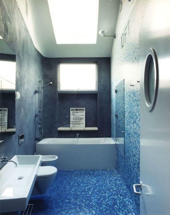 badkamer donkerblauw