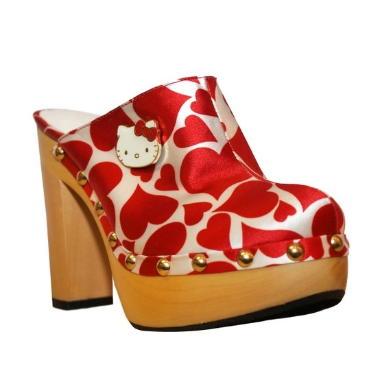 Shoesday: Red Hot Cat Shoes: Adelina Clog, Clogs, Clog Red, Hellokitty, Hello Kitty, Kitty Clog