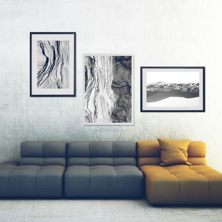 Rock your home with modern b&w gallery wall! 3 black and white photo prints inspired by mountains and rocks. Abstract compositions and clever double exposures in minimal color palette. Mix sizes and create unique gallery wall!