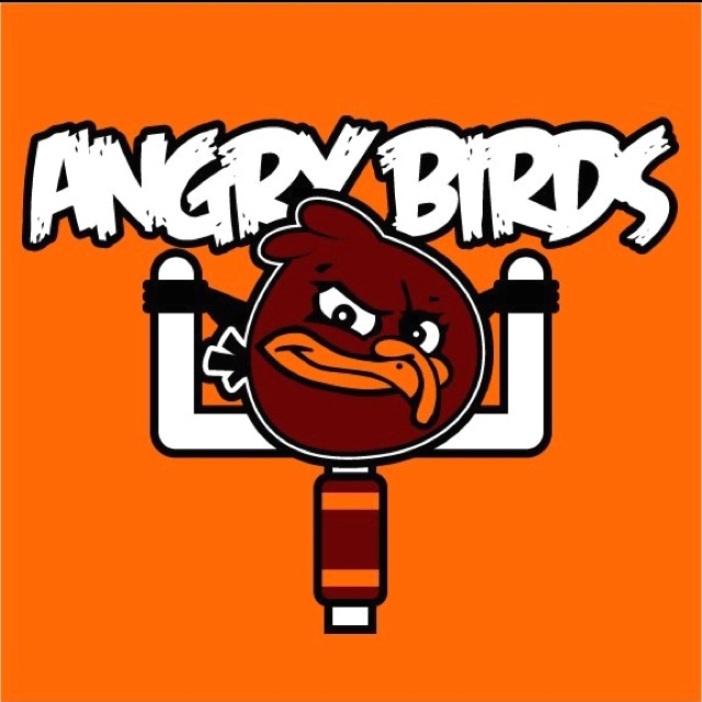 I got your Angry Bird right here! GO HOKIES!!!