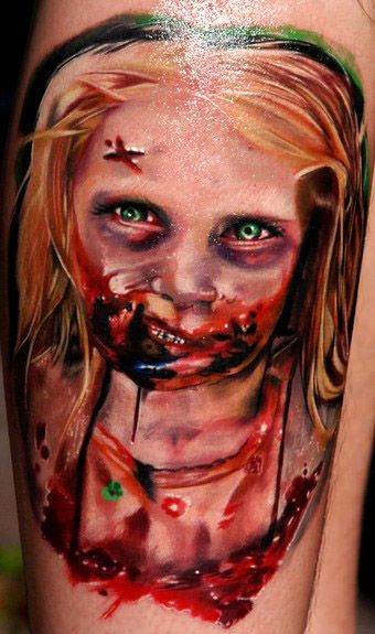 Spookie : 10 Frightening 'Walking Dead' Zombie Tattoos [Photos]
