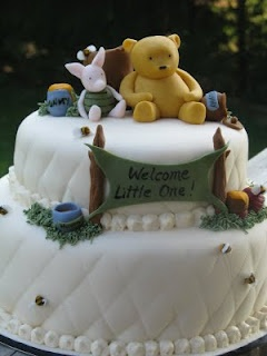 adorable baby shower cake - Classic Winnie!: Heidi of Bliss Cakes of London. FOR GENNY!!