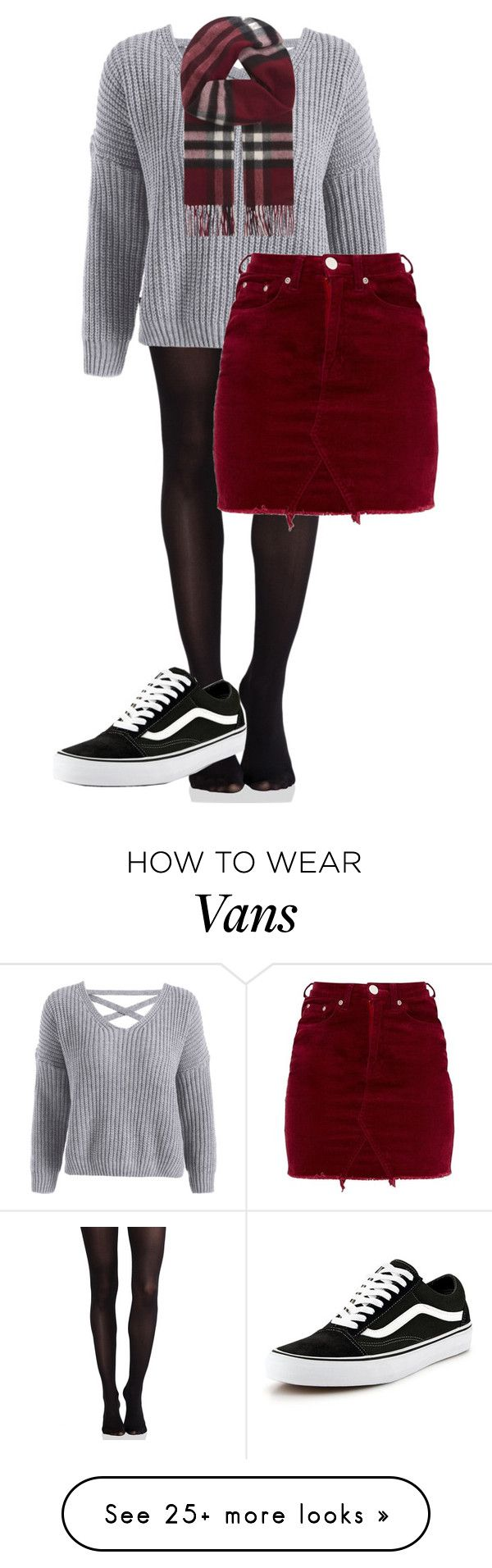 """Untitled #563"" by alaiza124 on Polyvore featuring SPANX, Burberry and Vans"