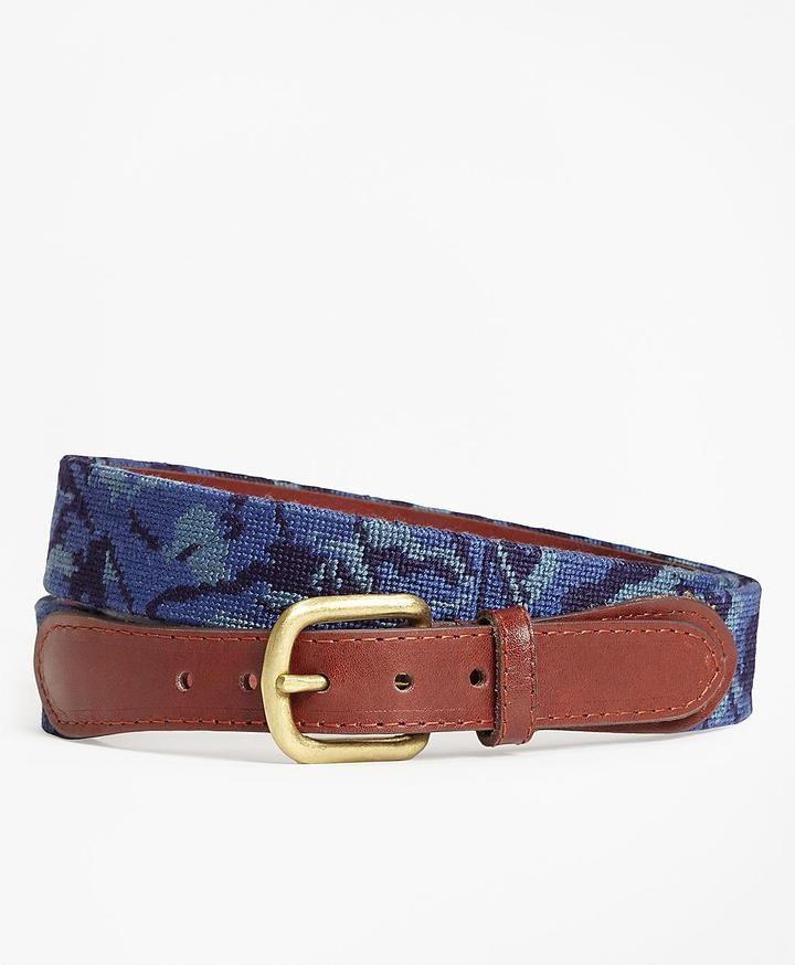Brooks Brothers Camouflage Needlepoint Belt