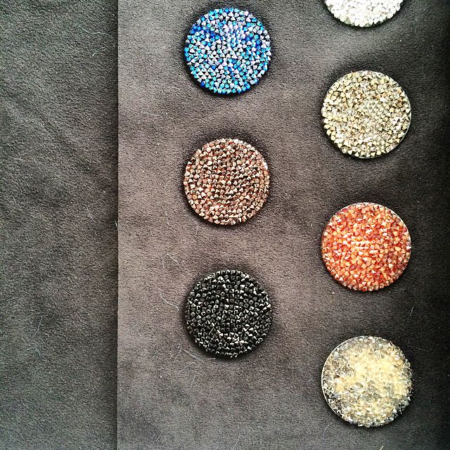 "Svarowski multicolour ""dot"" patterns"