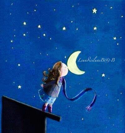 Bacio notturno alla Luna
