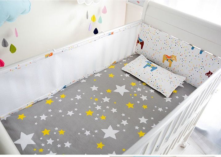 37.90$  Buy here - http://ai0pt.worlditems.win/all/product.php?id=32789117840 - Promotion! 5PCS Mesh Baby Cot Bedding Set For Girl Boys Bedding Set Kids Baby Cot Set,include(4bumpers+sheet)