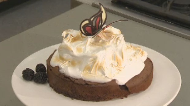 Got a sweet tooth? Try this mile high gluten-free chocolate pie, with just six ingredients: bittersweet chocolate, unsalted butter, eggs, white sugar, unsweetened cocoa powder, seedless raspberry jam or preserves.  For the full recipe click on the link http://atlantic.ctvnews.ca/ctv-news-at-5/mile-high-gluten-free-chocolate-easter-pie-1.1215095