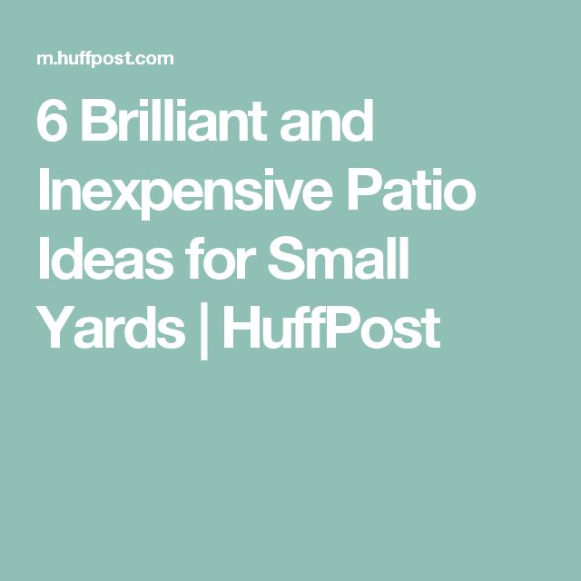 Inexpensive Small Backyard Ideas: 25+ Best Ideas About Inexpensive Patio On Pinterest