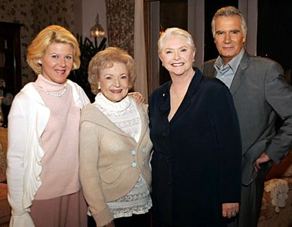 Alley Mills, Betty White, Susan Flannery, John McCook - 12/2006                                      Cliff Lipson/CBS
