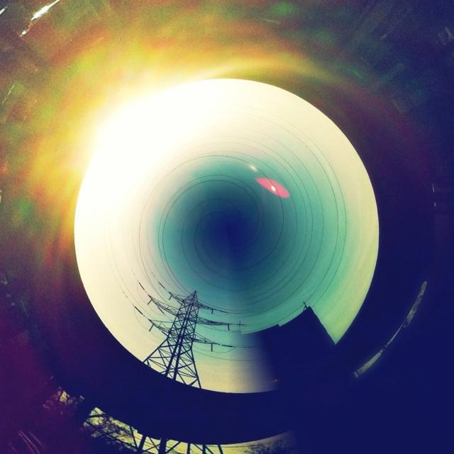 Tiny Sunset Planet Hole