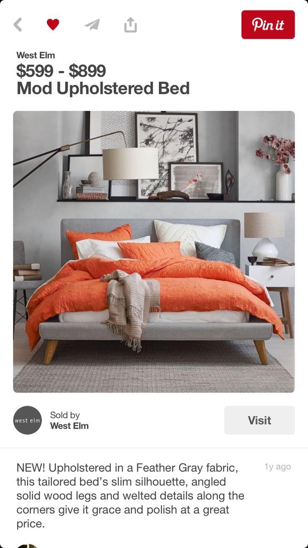 Gray With Orange Bedroom Color Scheme   22 Beautiful Bedroom Color Schemes