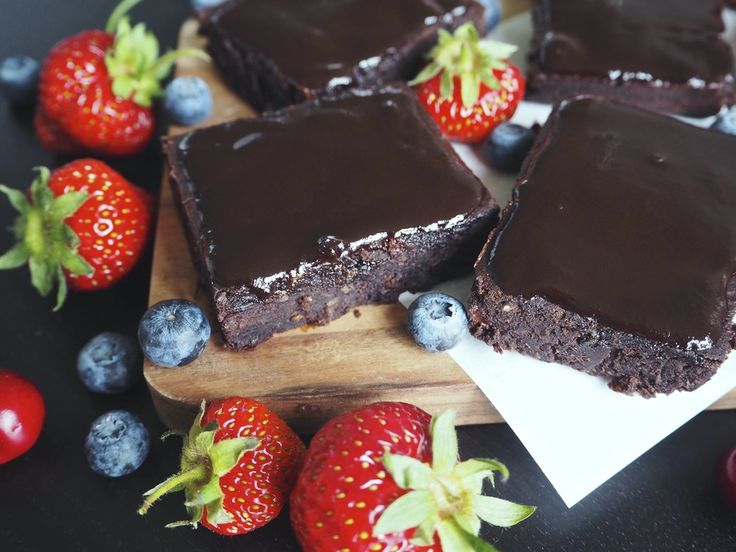 Black bean brownies with chocolate frosting