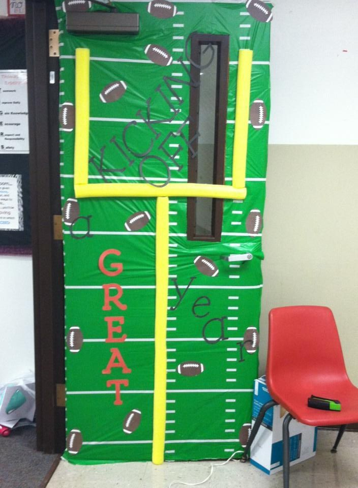 Sports Theme Classroom Door