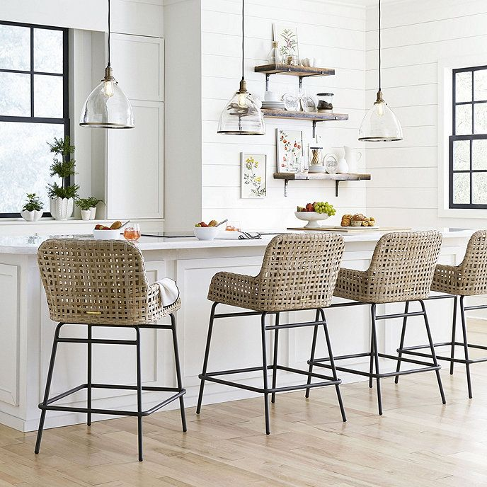 Bailey Woven Stools | Ballard Designs in 2020 ...