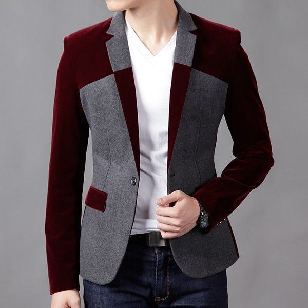 >> Click to Buy << Red Blazer Men Plus Size 3XL 4XL 5XL 6XL Velvet Blazer Homens Spring  Black Navy Red Velvet Blazer Male Terno Slim Fit Masculino #Affiliate