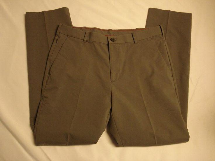 NWOT Men's Izod 5 Pocket Performance Classic Fit Golf Pants 34 x 32 Taupe #IZOD #golf