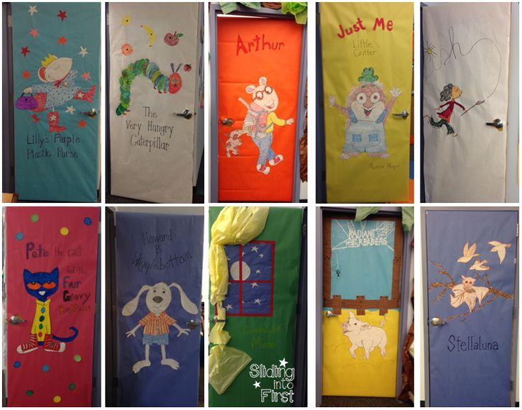 Literature Classroom Decor ~ Classroom door decorations books pete the cat very