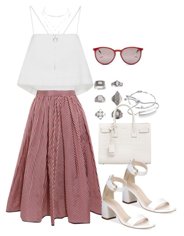 """""""Sin título #1302"""" by vivig5 on Polyvore featuring moda, MaBelle, Monica Vinader, Topshop, Yves Saint Laurent, A.L.C., Tome, Cole Haan, Charlotte Russe y Ray-Ban"""