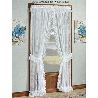 Maison Semi Sheer Lace Ruffled Priscilla Curtains