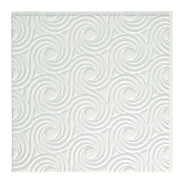 ACP CT24X24CY 23 1/4-Inch H x 23 1/4-Inch W Fasade Cyclone C PVC ceiling tiles at Architectural Depot