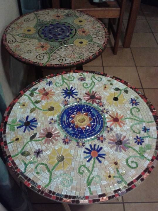 The table in the front is the one I did for my Mom's 80th birthday.