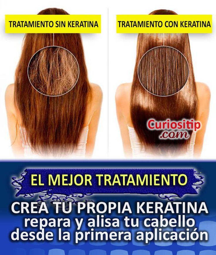 Tratamiento Intensivo para Cabello Maltratado con KERATINA hecha en casa | Curiositip