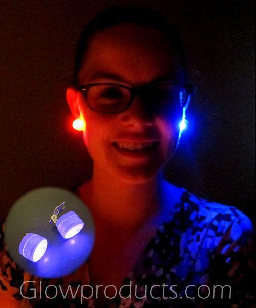 how to make glow stick earrings