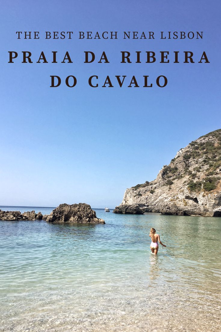 Praia da Ribeira do Cavalo, one of the best beaches near Lisbon and my travel tips how to get there :)  www.ejnets.com #portugal #lisbon #lisabon #lisboa #traveltips #beach #portugalbeaches