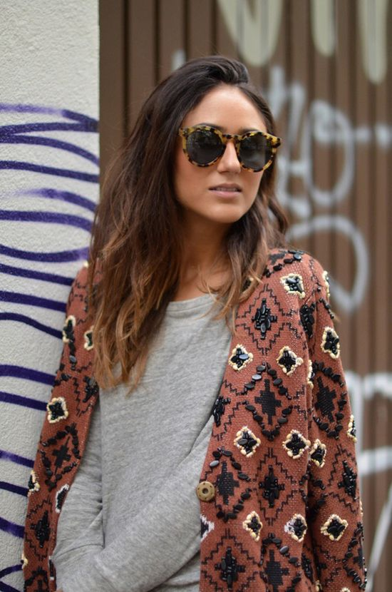 Love the jacket and tortoise shades