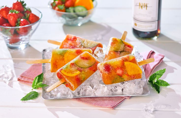 It's Pimm's o'clock! We've taken this classic summer tipple & turned it into a fruity ice lolly. Pop over to Tesco Real Food for more Wimbledon recipes.