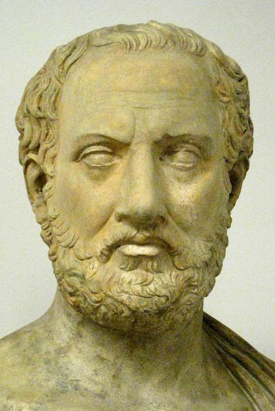 Tucídides fue un historiador y militar ateniense. Su obra Historia de la Guerra del Peloponeso recuenta la historia de la guerra del siglo V a. C. entre Esparta y Atenas hasta el año 411 a. C
