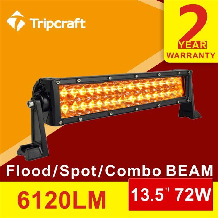 New amber and white light!!13.5Inch 72W Led Light Bar Combo Work Driving Offroad for Utv Truck Suv