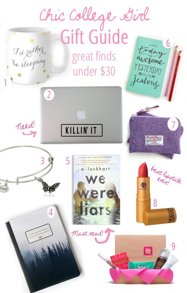 Chic College Girl Gift Guide! These gifts are perfect for the successful college girl in your life! Gift ideas everyone will love!