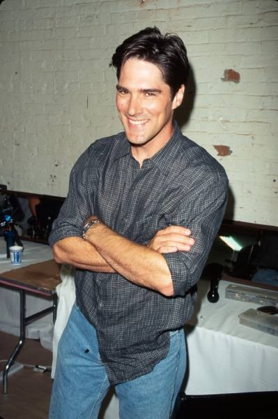 Thomas Gibson at a Tommy Hilfiger fashion show. {Sept 1998}