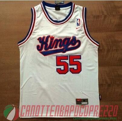 canotte nba poco prezzo Sacramento Kings Williams # 55 Retro bianco