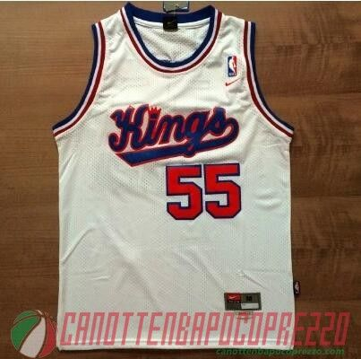 canotte nba poco prezzo Sacramento Kings Williams # 55 Retro bianco