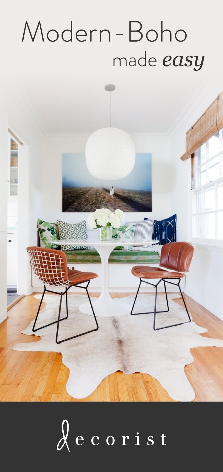 Want that fresh, timeless bohemian look? Decorist Elite Designer Katie Hodges shares her tips on mixing vintage and modern (and affordable) pieces into spaces with great personality.