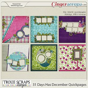 31 Days Has December Quickpages by Trixie Scraps Designs