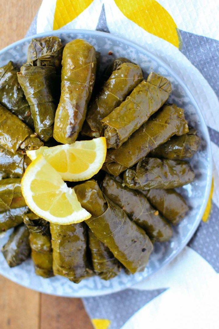 Lebanese Stuffed Grape Leaves Warak Enab Recipe Stuffed Grape Leaves Food Mediterranean Dishes