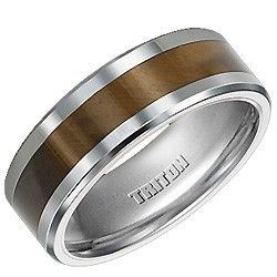 Triton Tungsten Carbide Wedding Ring with Tiger Eye Inlay - link to the actual web page