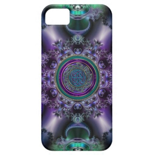 Jade and Amethyst Celtic Fractal Design iPhone 5 Covers  #Celtic  #iPhone