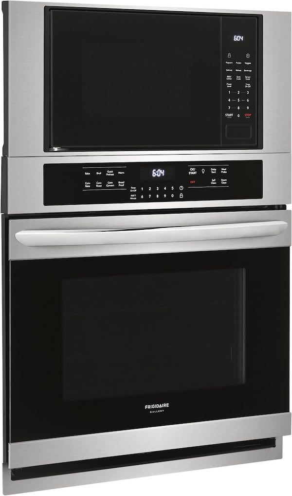 Frigidaire Gallery 30 Electric Wall Oven Microwave Combination Stainless Steel Fgmc3066uf Electric Wall Oven Wall Oven Microwave Wall Oven