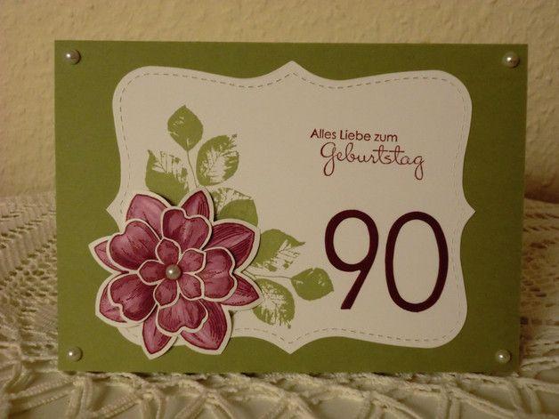 gl ckwunschkarten romantische geburtstagskarte zum 90. Black Bedroom Furniture Sets. Home Design Ideas