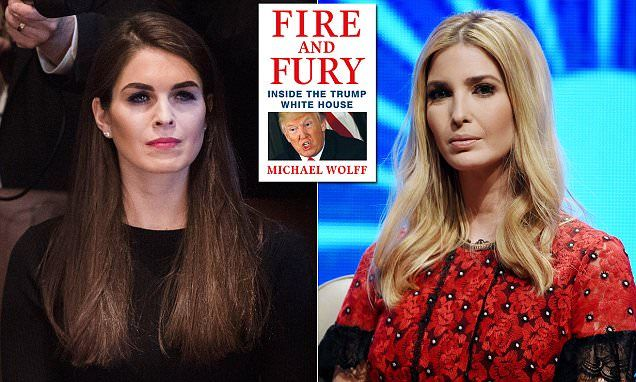 Aides say Hope Hicks is his real daughter and Ivanka is his real WIFE
