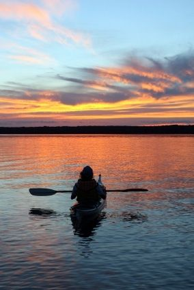 Kayaking at sunrise - #kayak #kayaking #kayaker
