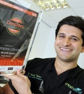 Dr Monik Vasant - Winner Best Young Dentist North West 2010