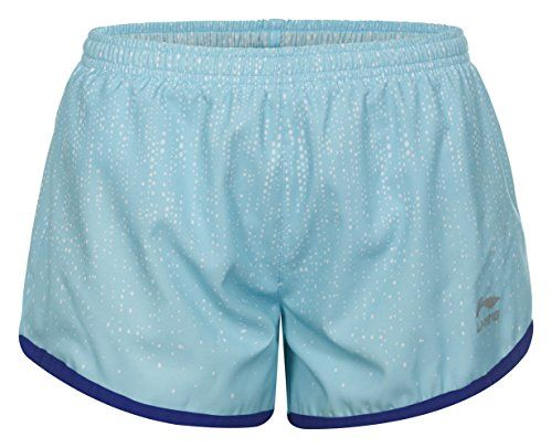 €6.13 in Gr. L * Li Ning Damen Shorts Bermudas Stacy, Baby Blue * Sportbekleidung Damen