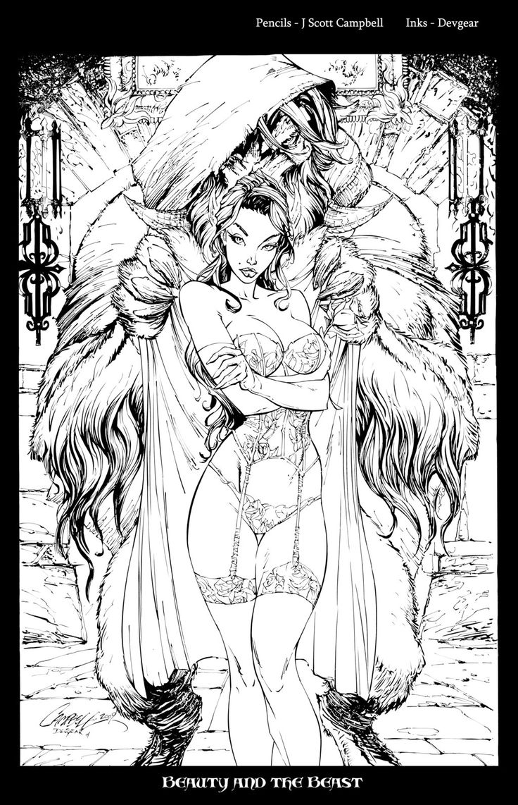 Beauty and the Beast Inks by devgearviantart on deviantART