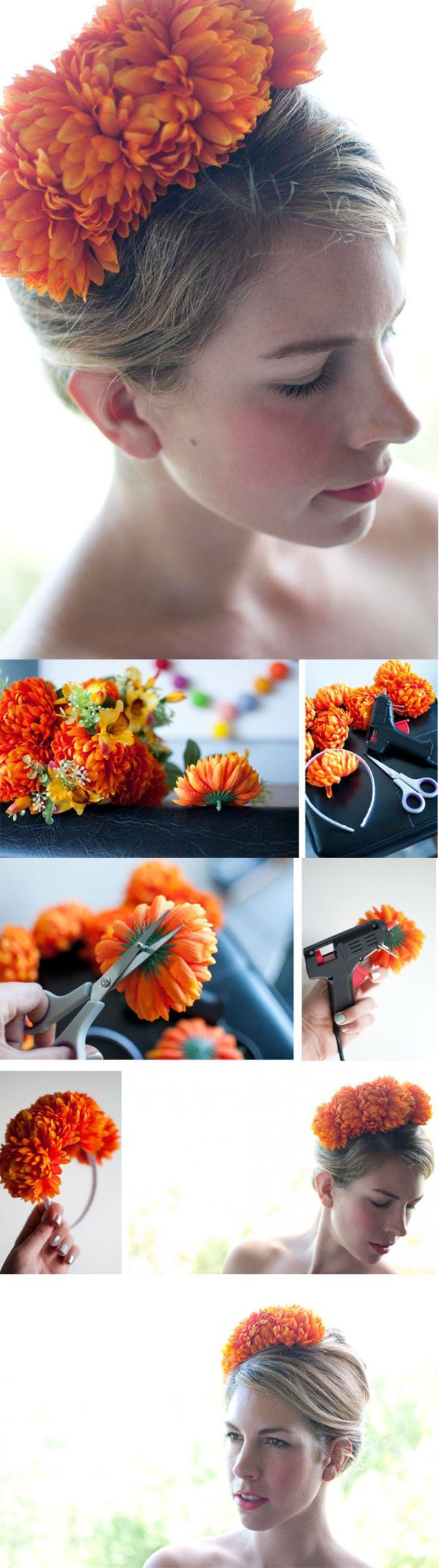 DIY Flower Hair Piece diy craft crafts craft ideas easy crafts diy ideas diy crafts easy diy diy hair diy bow craft bow craft accessories
